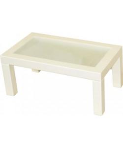 Стол журнальный Сакура-3 со стеклом. Размер: 90,5*50,5 h41 см.