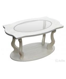 Стол журнальный Берже-3 со стеклом на колесах. Размер: 94*60 h56 см.