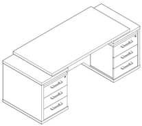 Стол рабочий TDT 197 Размер: 1900*700*750 мм