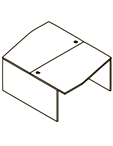 Стол двойной X2CT 169.2 Размер: 1600*1606*750 мм