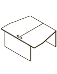Стол двойной X2CT 169.2 Размер: 1600*1806*750 мм